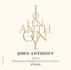 2013 John Anthony Oak Knoll District Syrah 750 mL