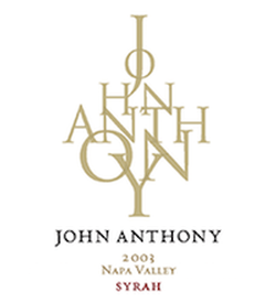 2003 John Anthony Napa Valley Syrah 750ML Image